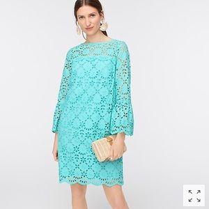 NEW J. Crew bell sleeve dress embroidered eyelet 2